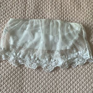 Garage lace covered tube top size Small